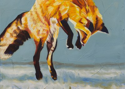 2017-01 - Painting by Cameron Dixon - Fox Pounce - 2 - complete-full-web