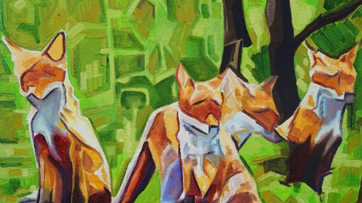2017-03 – Original Painting by Cameron Dixon – Fox Cub Four