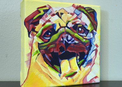 2017-04 - Painting by Cameron Dixon - Pug-1-right-1080px