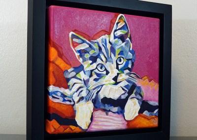 2017-05 - Pop Art Kitten1 by Cameron Dixon - framed-right-1080px