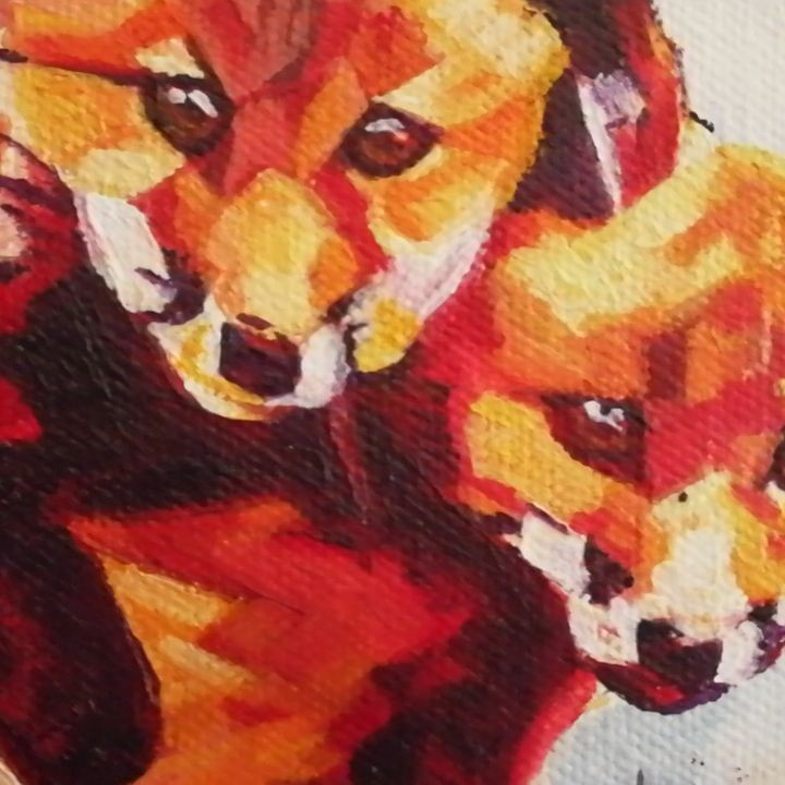 Two Fox Cubs Quick Video Preview 8in x 8in Oil on canvas + Frame $160USD + shipping Prints and products starting from $22USD/$29CDN available tomorrow via: www.camerondixon.com Original available tomorrow via my Etsy shop: www.etsy.com/shop/CameronDixonsArt