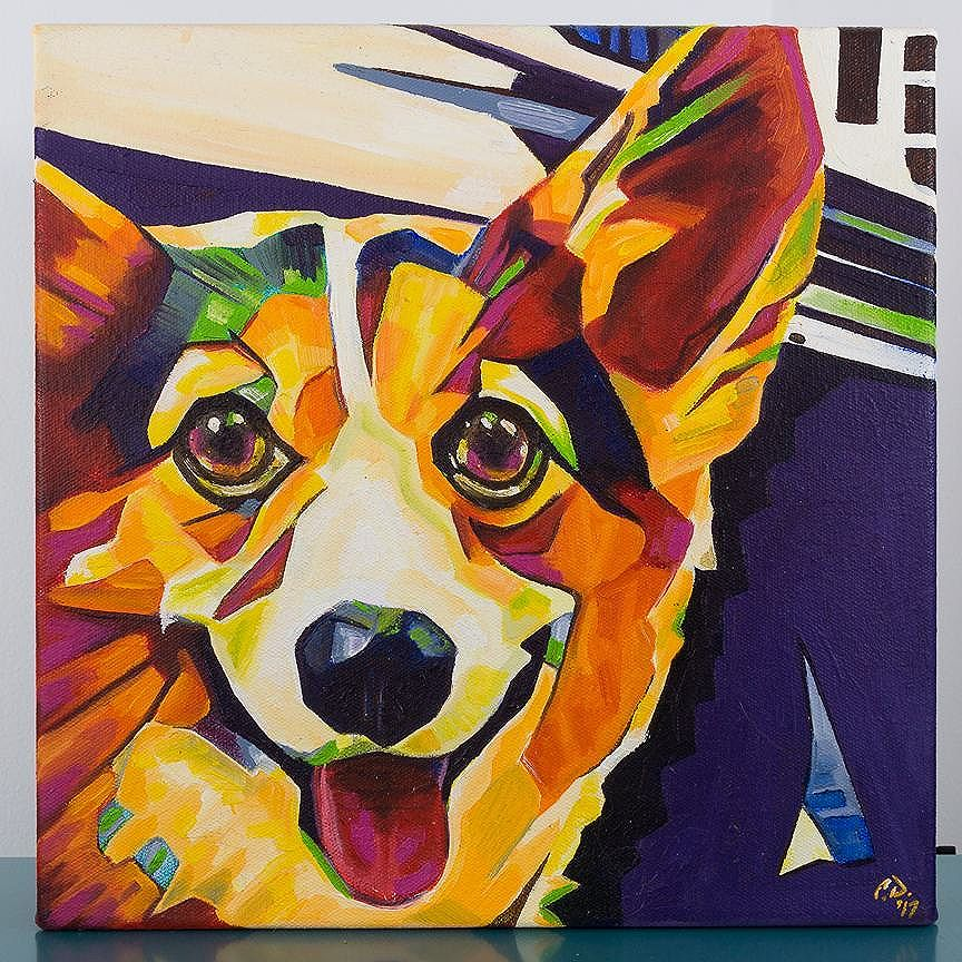 POP ART Corgi 12in x 12in x 1.375in Comes with frame. Prints and original will be available soon at: www.camerondixon.com Taking commissions: www.camerondixon.com Pricing: www.camerondixon.com/pricing http://ift.tt/2stxsCj http://ift.tt/2hBOYD6