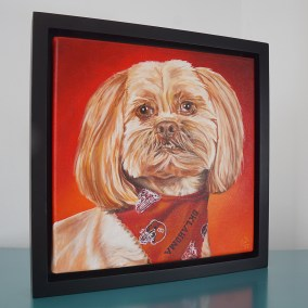 Commissioned painting by Cameron Dixon - DSC00297-Bell-frame-left-1080px