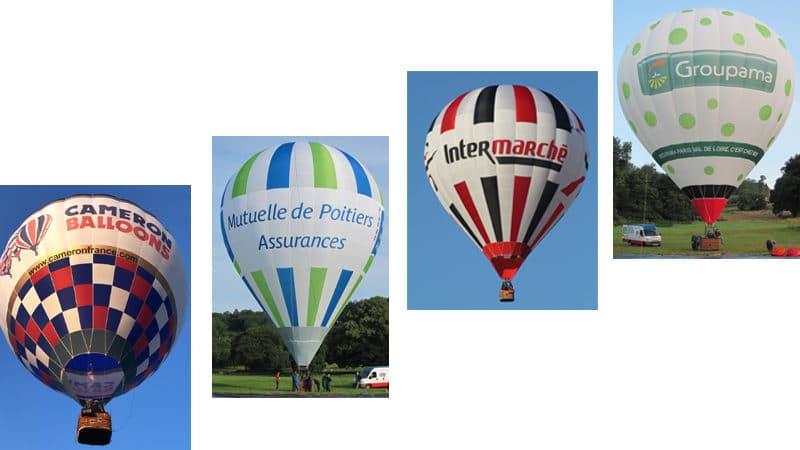 Exemples de support de publicité et communication aérienne