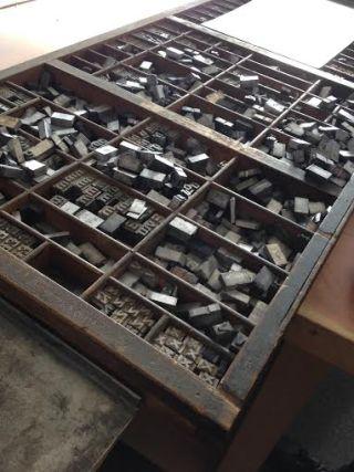 letterpress type case
