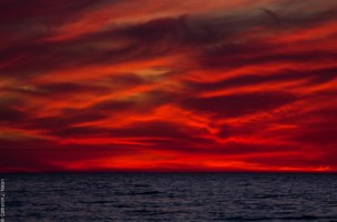lake michigan indiana dunes sunset
