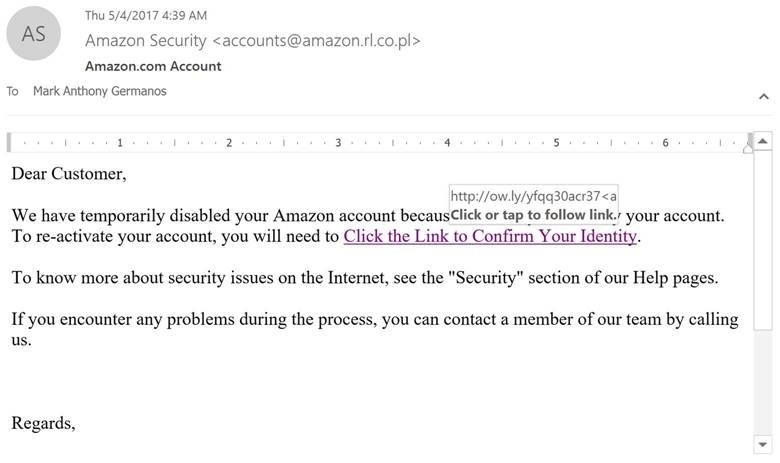 What does a phishing attempt look like (part 2)