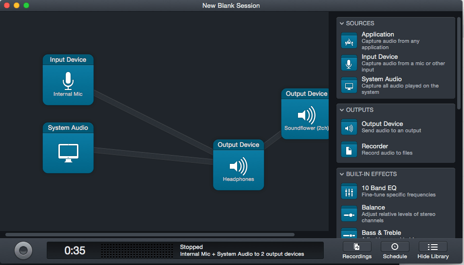 Using Audio Hijack and Soundflower to feed System Audio into Skype