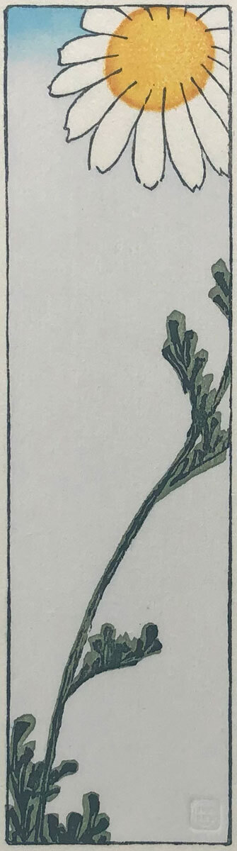 Hiroshige's Daisy woodblock print by Claire Cameron-Smith