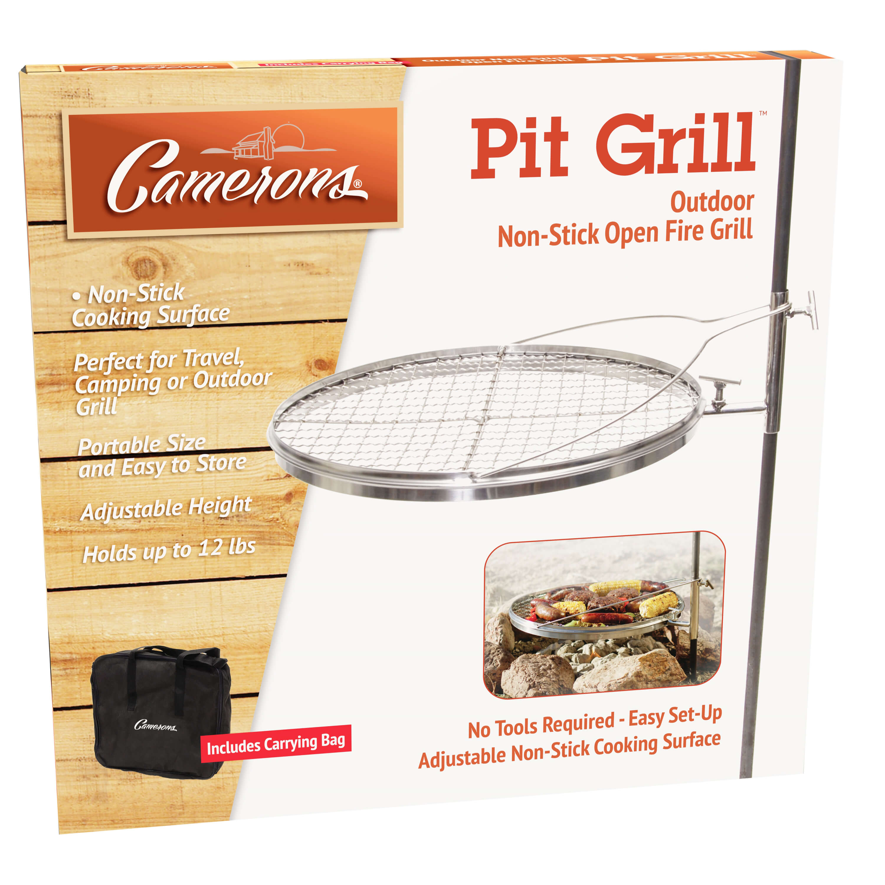 Open Fire Pit Grill from Camerons Products