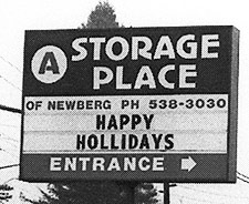 Happy Hollidays from Storage Place!