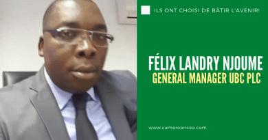 Félix Landry NJOUME,  nouveau directeur général Union Bank of Cameroon PLC