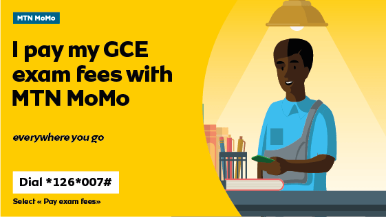 Pay Your GCE exam fees with MTN MoMo