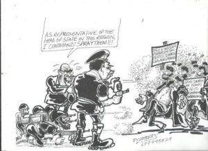 Riot Police, BIR Brutalise Demonstrating Common Law