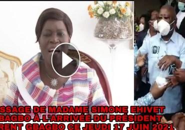 L'émouvant message du Pr. Simone Ehivet Gbagbo au retour de son époux le Pr. Laurent Gbagbo