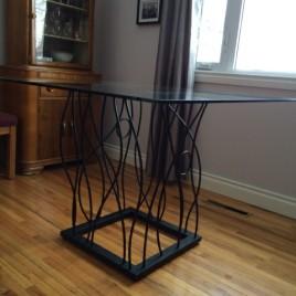 BENT Pedestal Table Base