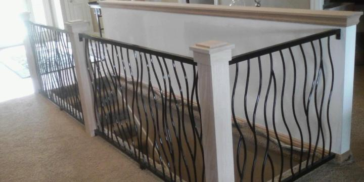 Here is my BENT Iron Art railing used by one of my great customers