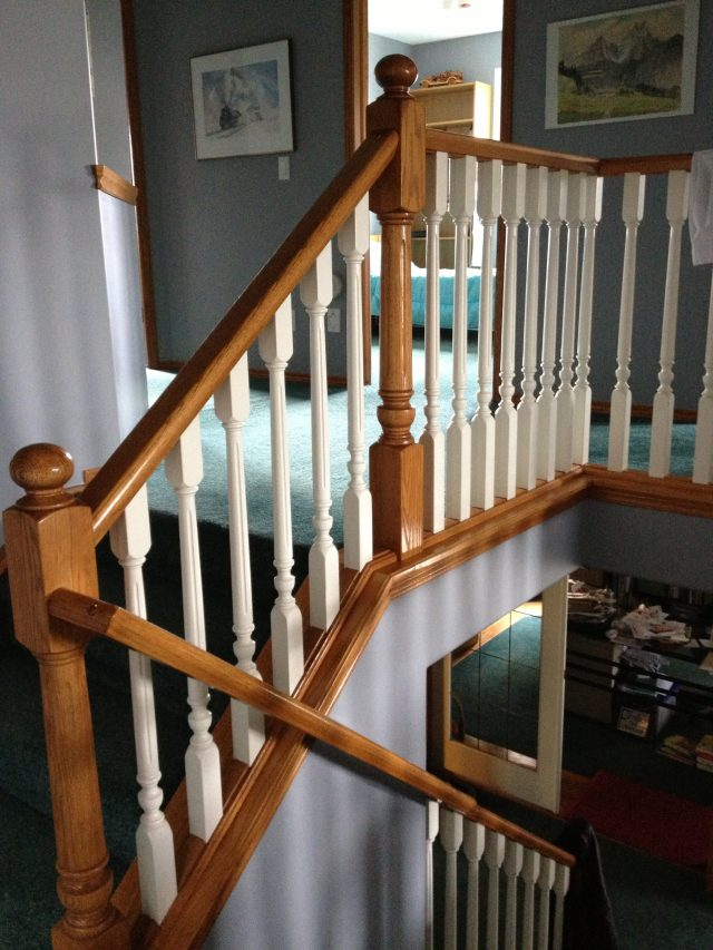 Lethaby Project BENT Iron Art Railing before 1