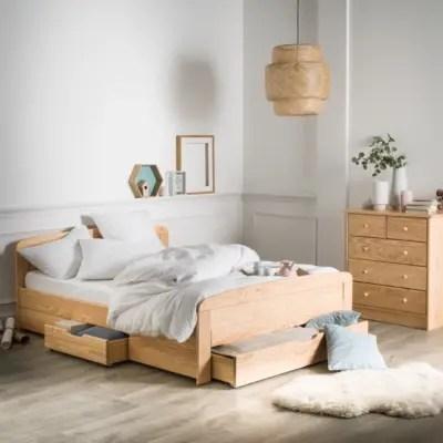 lit avec rangement lit avec tiroir camif