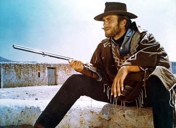 """Clint Eastwood em """"Por Um Punhado de Dolares"""", 1964"""