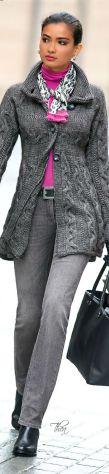 Casaco de trico para o trabalho!