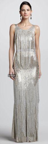 Vestido com franjas estilo Gatsby, tendencia 2016.