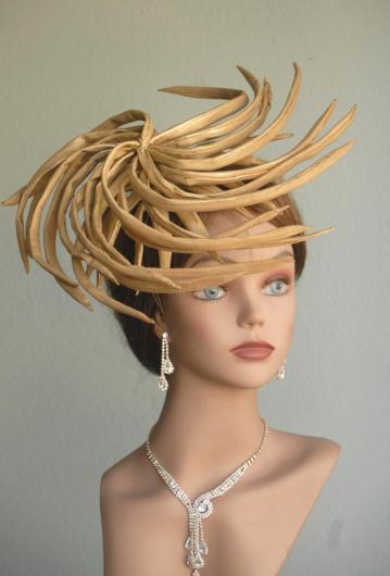 kentucky-derby-hat-fascinator-cocktail-hat-gold-head-piece-kentucky-derby-headband-gold-bridal-coctail-hat-couture-fascinator