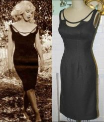 "Figurino de Marilyn Monroe no filme ""Os Desajustados - The Misfits"", de 1961. VESTIDO ORIGINAL - Peça Vintage."