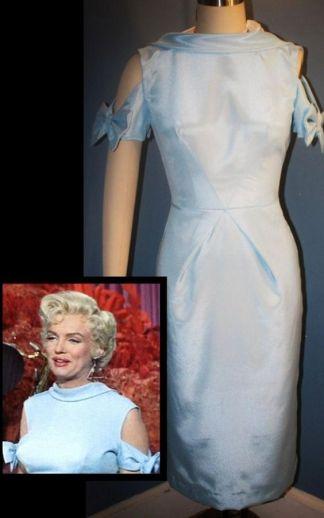 """Figurino usado por Marilyn Monroe no filme """" O Mundo Da Fantasia - There's No Business Like Show Business"""", de 1954. VESTIDO ORIGINAL - Peça Vintage."""