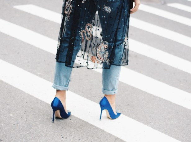 Image result for new york fashion week 2018 blue shoes