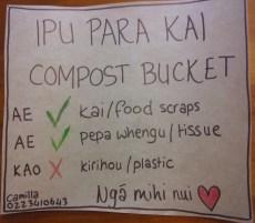 bilingual composting sign