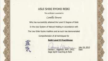 Latest News: Reiki Level I Certification | Camilla Downs