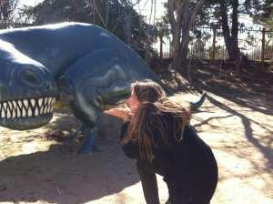 Camilla Blowing Kiss to Dinosaur March 2016