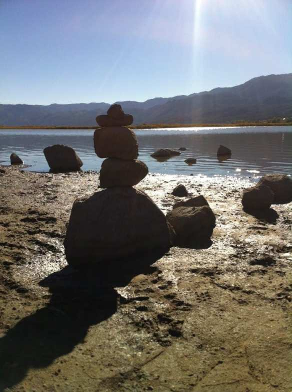Zen Rocks Little Washoe Lake October 2015