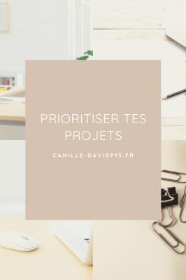 Prioritiser tes projets