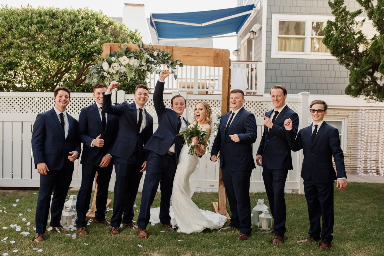Romantic backyard wedding in Virginia Beach