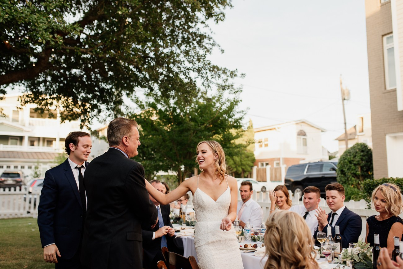 Romantic backyard wedding in Virginia Beach