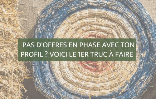 Pas d'offres en phase avec ton profil ? | Blog Camille Gautry - Optimisation de Carrière et de Recrutement | Expatriation | Retour en France