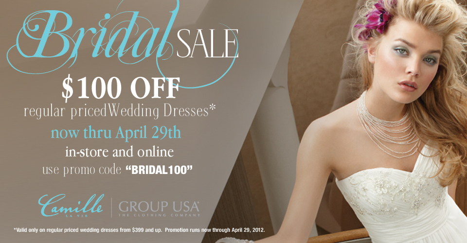 Camille La Vie & Group USA Bridal Sale