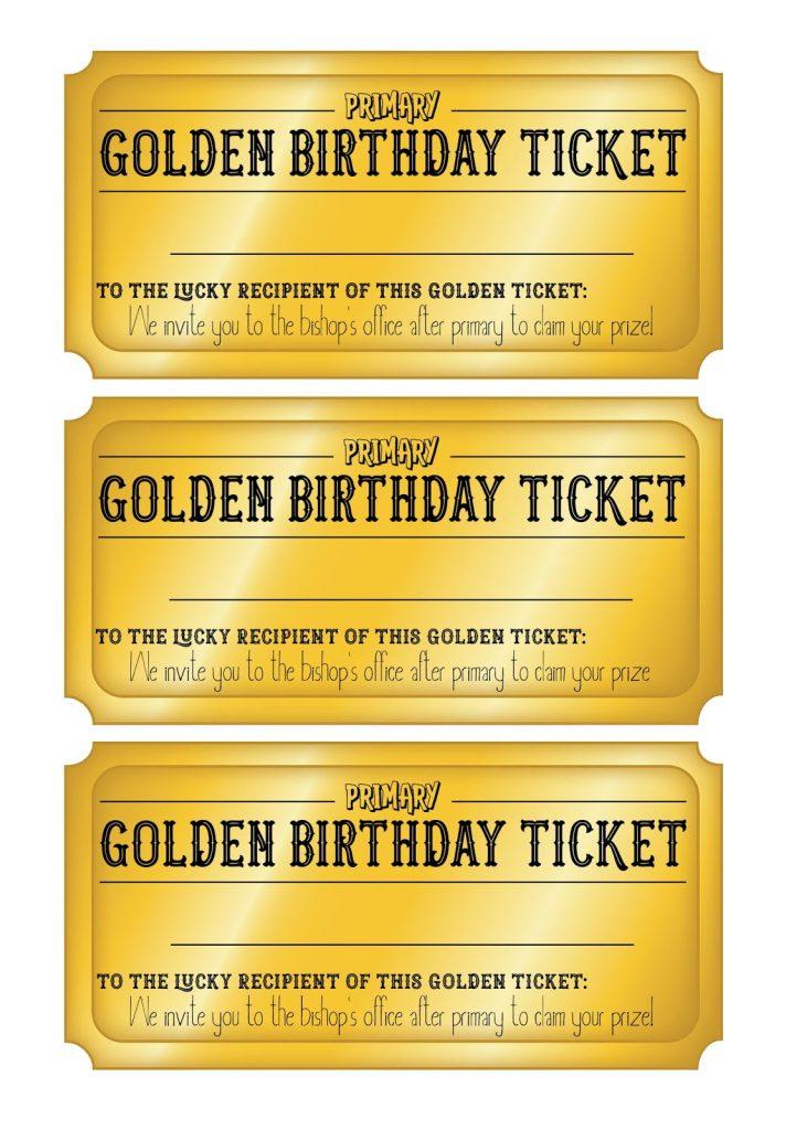 golden birthday ticket singing time