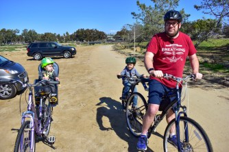 We went on a family bike ride a few weeks ago. The boys loved it!