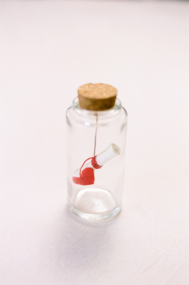 DIY Message in a Bottle for Valentines Day | Style Me Pretty for Camille Styles
