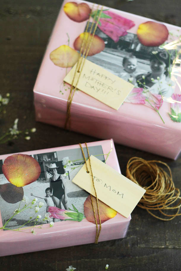 diy pressed flower gift