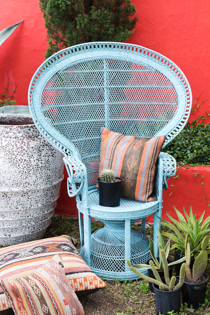 rattan peacock chair office kijiji makeover camille styles how to repaint a