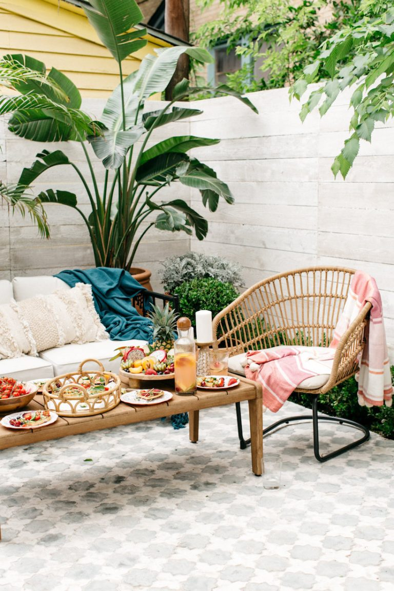 how we decorated our new patio using