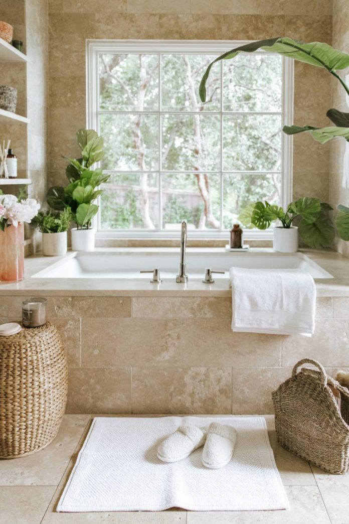 how to easily make your bathroom into a zen space for the new year with target
