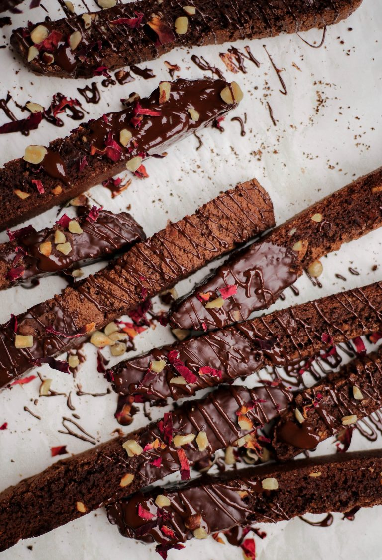 double chocolate orange and hazelnut biscotti
