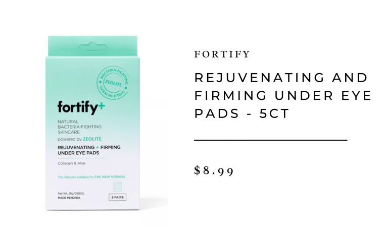 Fortify+ Natural Bacteria-Fighting Skincare Rejuvenating and Firming Under Eye Pads - 5ct/3.7oz