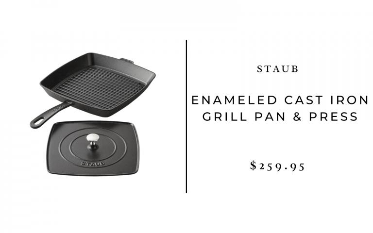 Staub Enameled Cast Iron Grill Pan & Press