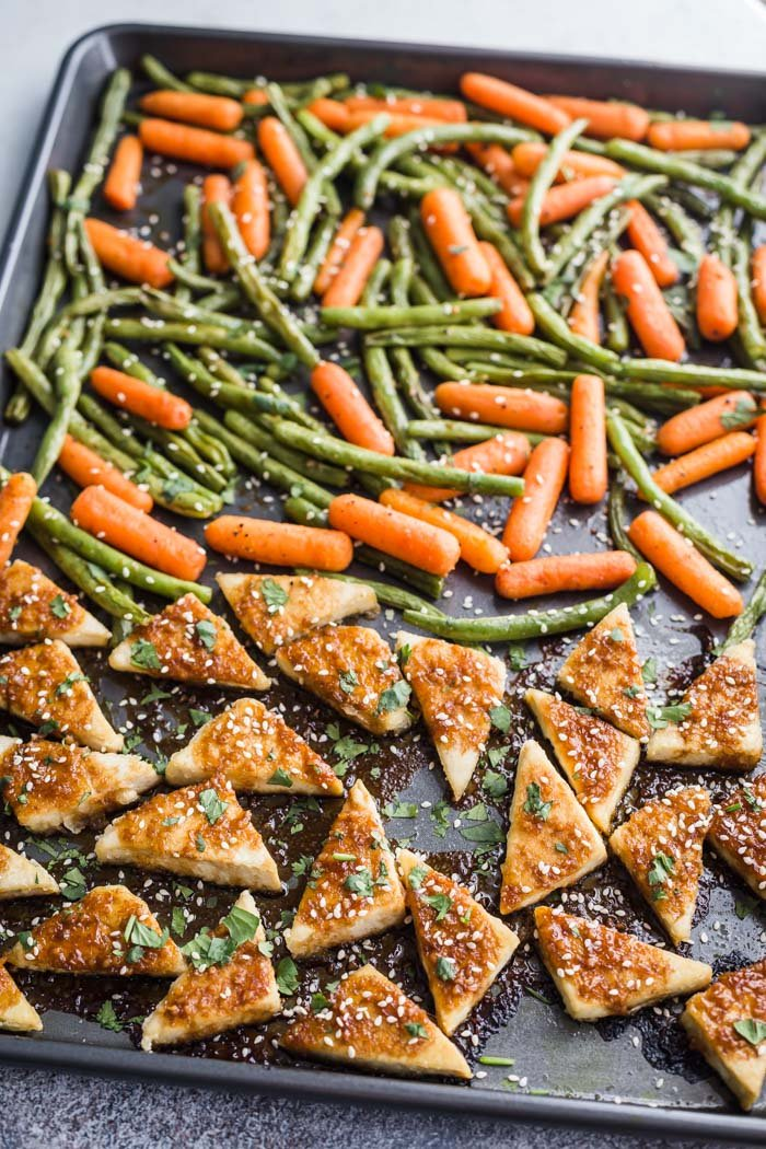Tofu and vegetables from eating with feeling